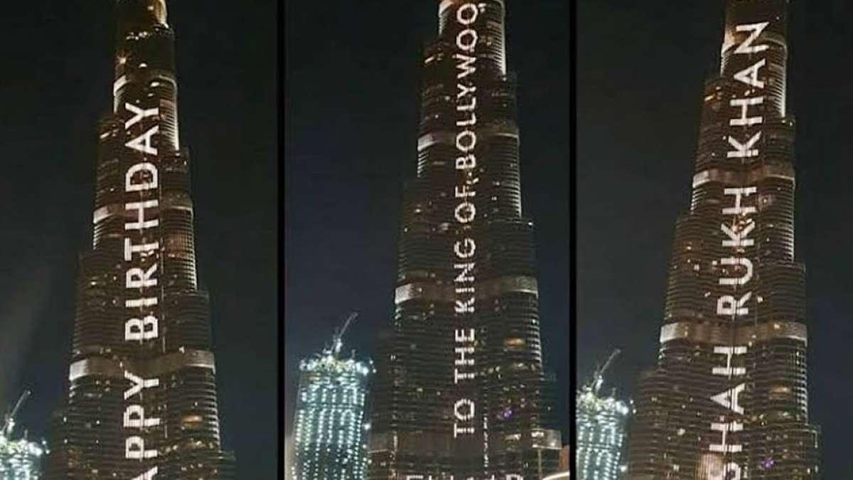 Watch: How Burj Khalifa lit up with a birthday wish for Shah Rukh Khan