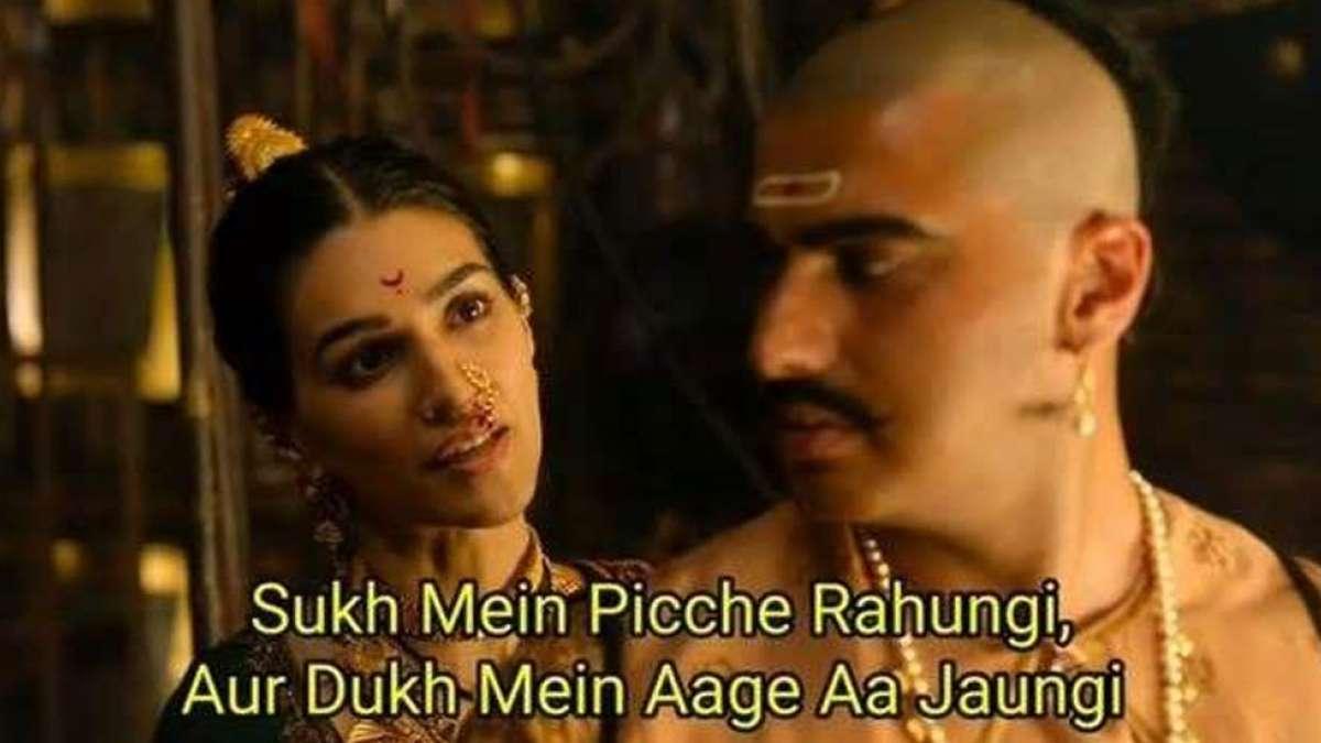 A still from Panipat trailer showcasing Kriti Sanon and Arjun Kapoor